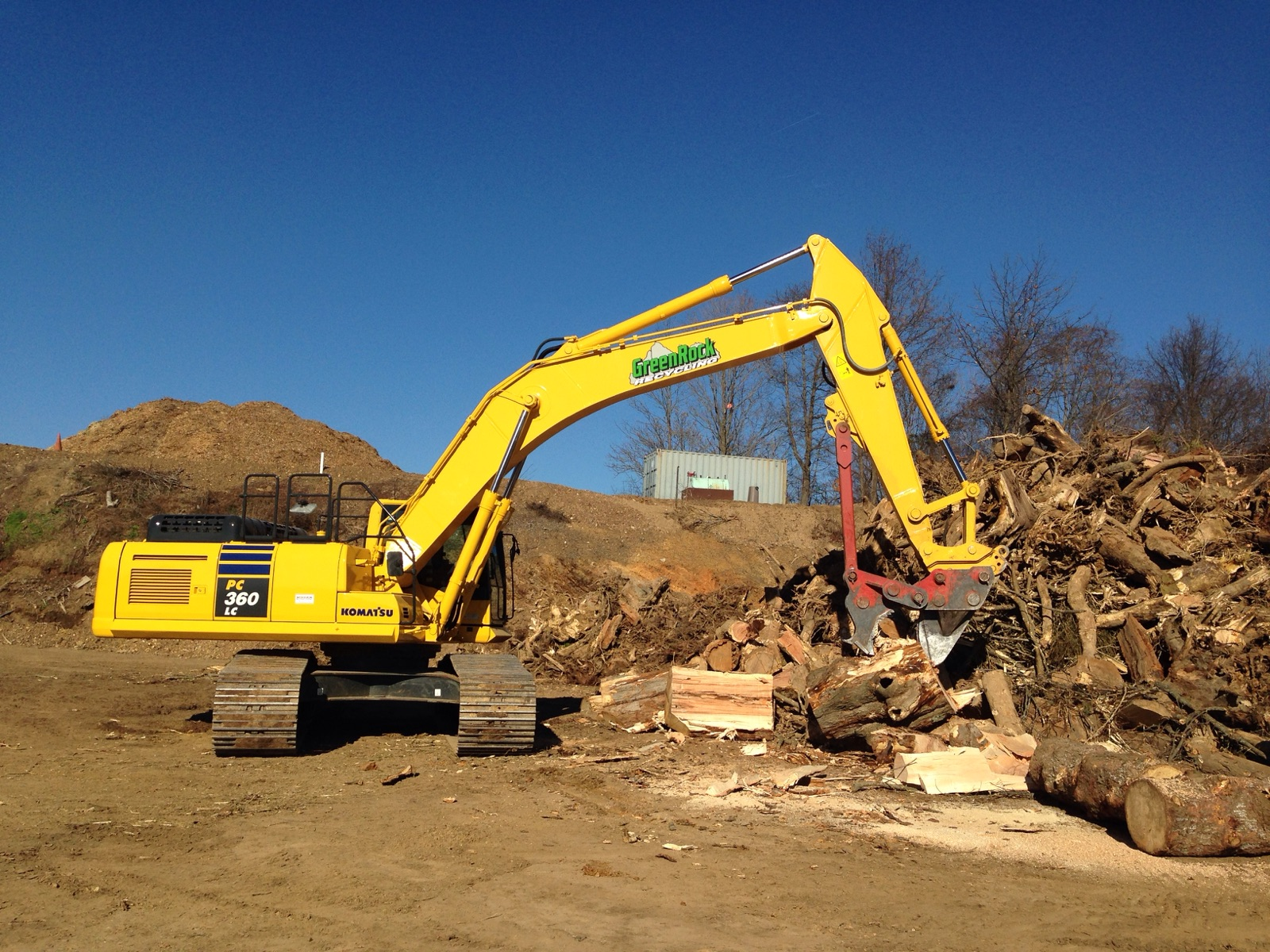 Tree products and wood recylcing at GreenRock Recycling